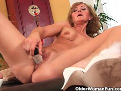 Older woman with small breasts and hot body