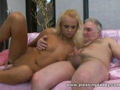 Bleach Blond Czech Slut Eliss Fire Fuck Fat Mature Man With Tiny Cock