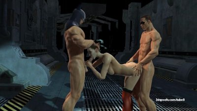 Batman, Robin, and Harley Quinn have a dirty threesome