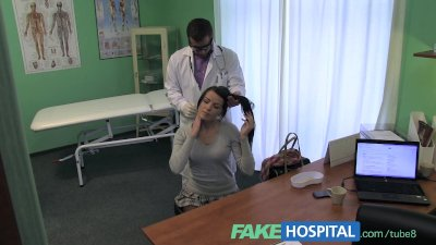 Fake Hospital Stiff neck followed by a big stiff cock fucked by the doctor