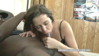 Brunette coed Bridgette Michels is sucking some dick