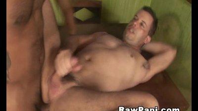 Horny latino gays barebacking anal fuck