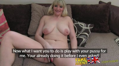 FakeAgentUK Tall blonde MILF craves hard cock in fake casting