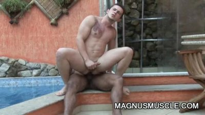 Arcanjo Amaro: Interracial Ripped Guys OutDoor Anal