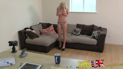 FakeAgentUK Beautiful petite blonde fingered and fucked in fake casting