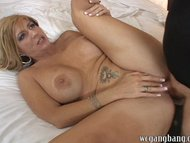 brittany blaze gets her first gangbang