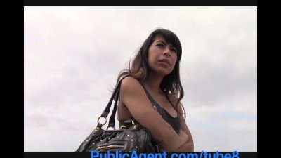 PublicAgent Latina babe gets fucked by big black dick POV