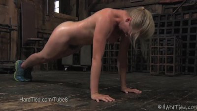 Young Blonde Does Exercise Under Threat of Punishment