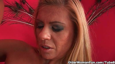 Sweet matured soccer mom with big natural tits