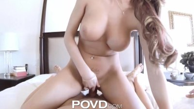POVD Card player eats out girl then titty-fucks her