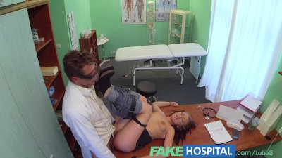 FakeHospital Doctors cock drains sexy students depression during consultati
