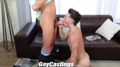 GayCastings Cute tattooed twink likes to show off on cam