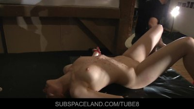 Blonde slaves restrained for double pleasure