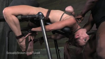 MILFy Cherie DeVille Cums wearing a hood then fucked in bondage