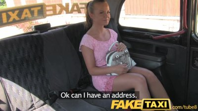 FakeTaxi Petite hot Czech girl in London cab trip