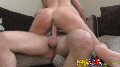 FakeAgentUK Husband cheating MILF is back for more casting couch action
