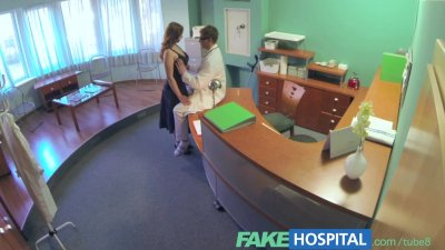 FakeHospital Busty new staff member sucking and fucking for job security