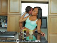 FantasyHD Teens huge tits are sweeter with honey