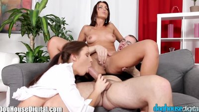 DogHouse Dirty Teen and Slutty MILF 3Way