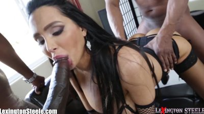 LexingtonSteele Amy Anderssen BBC Spit-Roast