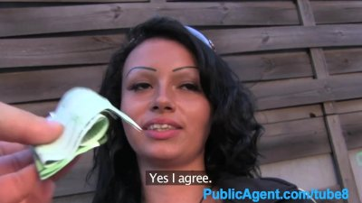 PublicAgent Huge amateur bubble butt riding cock outdoors in POV