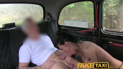 faketaxi moody dark haired british woman nailed in the cab
