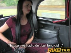 FakeTaxi Very sexy babes fucks taxi driver in her black bra and panties