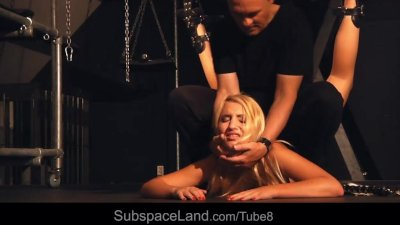 Obedience and submission of a slave girl in bdsm