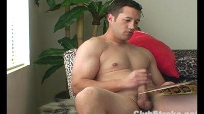Muscular Straight Guy Talon Masturbating