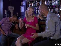 Boozed blonde gf cheating with oldman