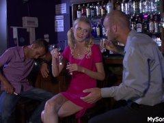 Boozed blonde gf cheating with oldman