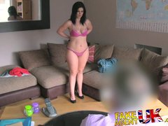FakeAgentUK Curvy Spanish MILF squeals and moans whilst being fucked