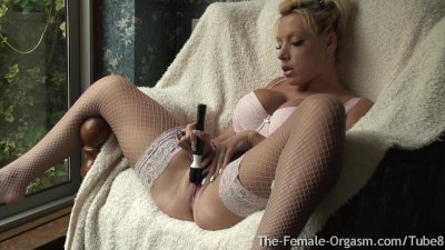 Horny MILF with Big Tits Masturbates to Two Long Pussy Pulsing Orgasms