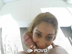 HD   POVD Guy cums all over Sarai pussy drenched pussy