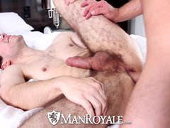 HD   ManRoyale Soccer twink takes huge cock in his tight virgin hole