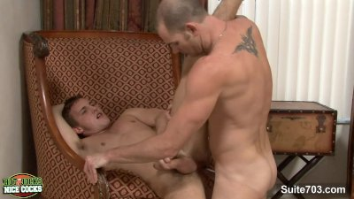 Horny jocks 69ing and cumming