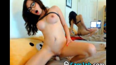 Hot Busty Asian Chick Moans Loud