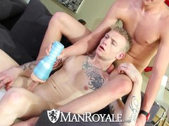 HD ManRoyale   Cute guy jerking off gets fucked by his friend