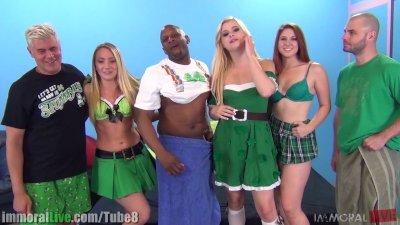 St.Patrick's pornstar orgy party! Vol.3
