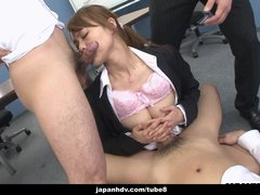 Hot Asian dick sucker pleases the dude s dicks