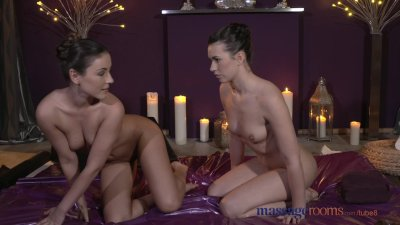 Massage Rooms Stunning lesbian models have intense sensual orgasms