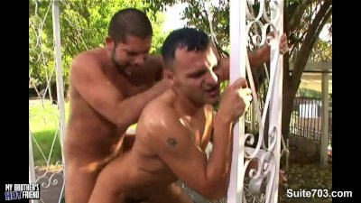 Tempting gays fucking outdoors