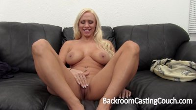Big Tit MILF Creampie on Casting Couch