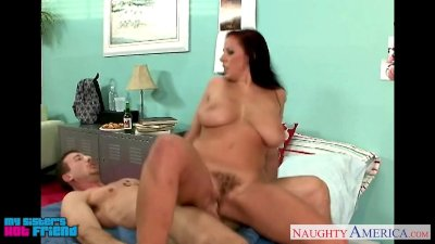 Big breasted hottie Gianna Michaels riding a large pecker