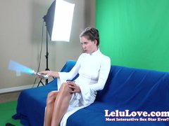 WEBCAM: Girl dressed as Princess Leia plays with light saber & masturbates