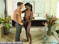 bokep foto bugil memek ngangkang Video - NuruMassage Ebony Babe Ana Foxxx Gives Erotic Massage hot mesum