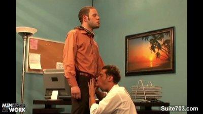 Seductive gay ride anally a big cock at work