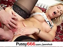Sweet Cat pussy fingering and pussy spreading up close