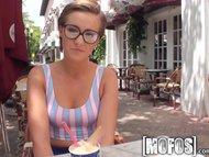 Mofos - Nerdy hipster girl lovs cock