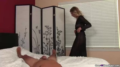 Naked milf POV handjob
